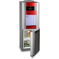 Кулер для воды со шкафчиком и  дисплеем HotFrost V745CST red